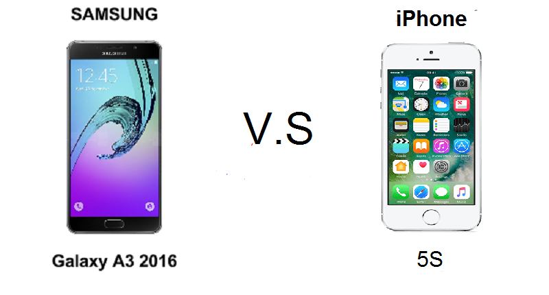 (1) samsung a3 vs iphone 5s