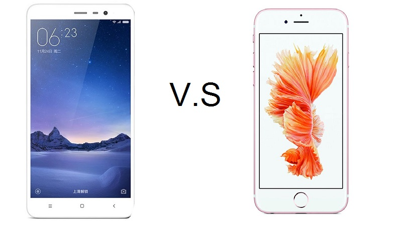 (2) redmi note 3 dan iphone 5s