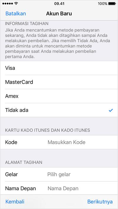 Metode Pembayaran Apple ID