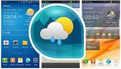 (2) Android Weather & Clock Widget