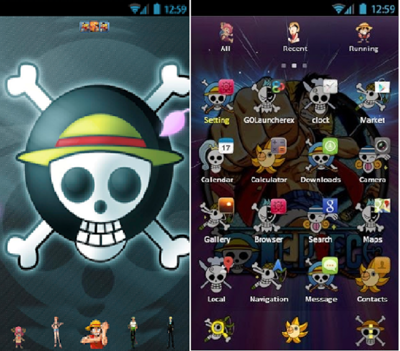 Cara Pasang Aplikasi Android Tema One Piece Secara Gratis Dengan