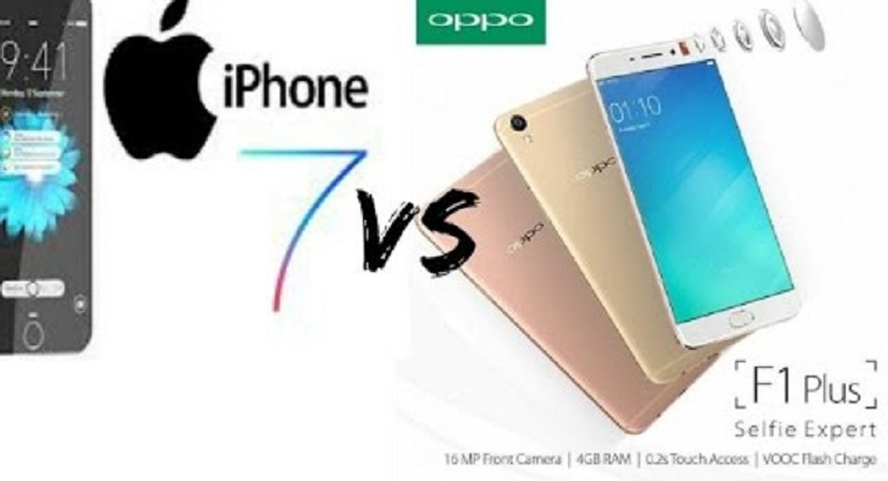 (4) iPhone 7 VS Oppo F1 Plus
