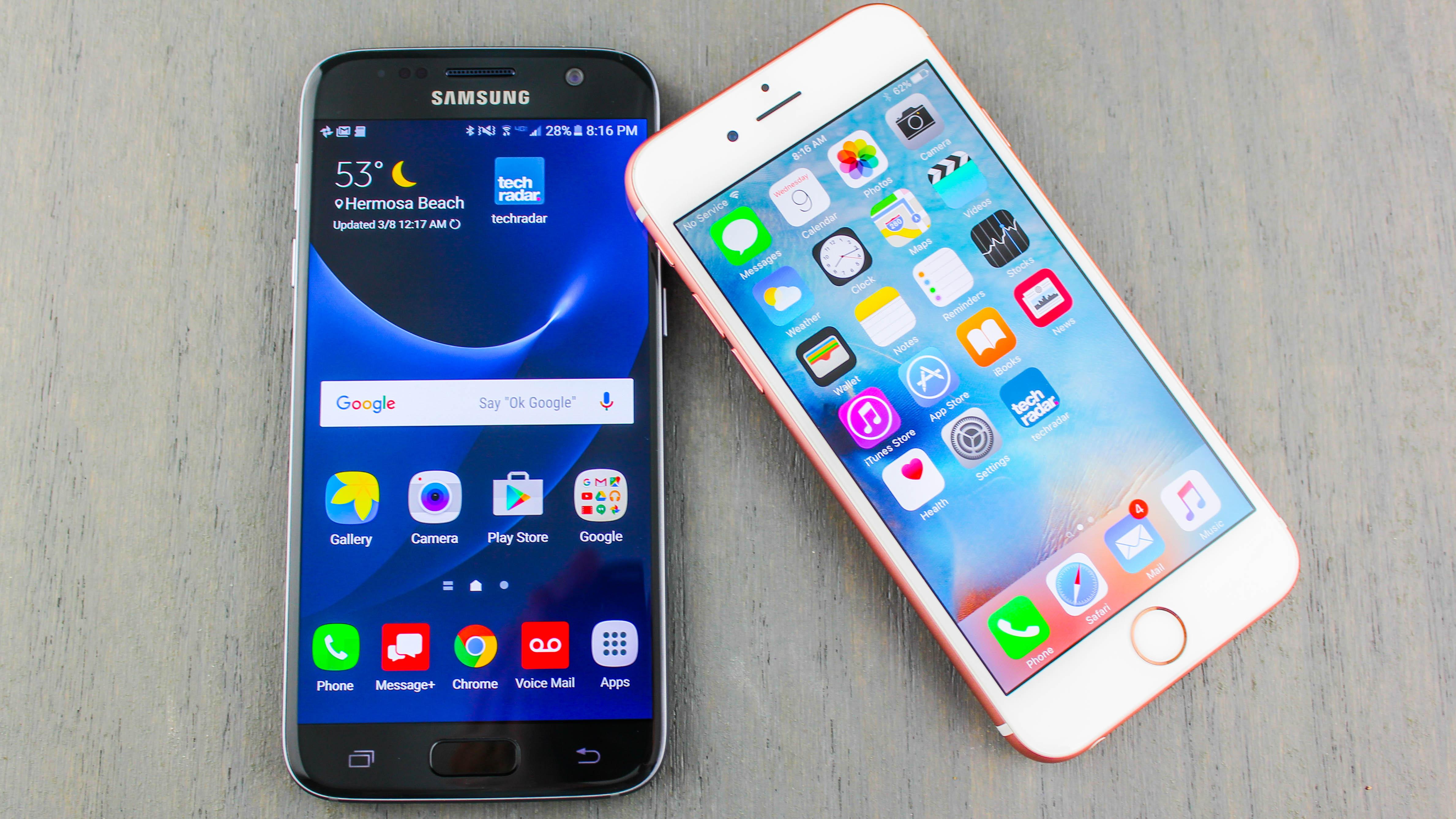s7 vs iphone 6