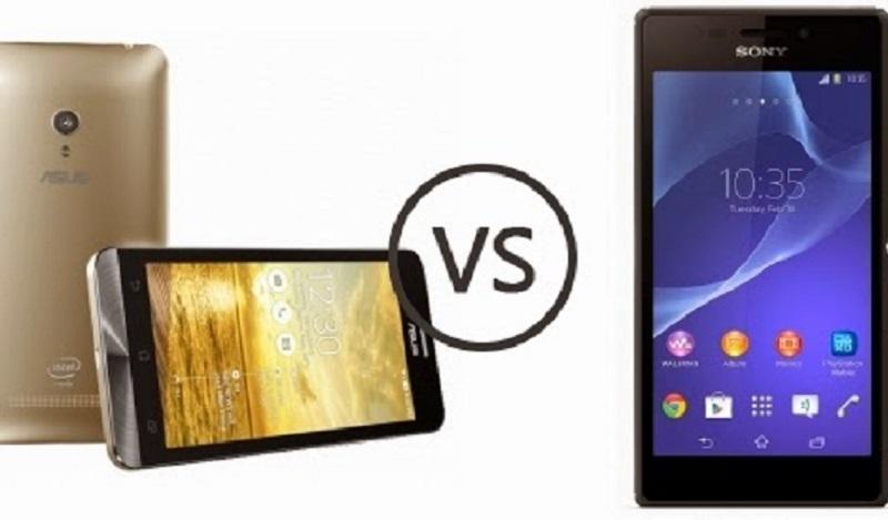 (1) Asus Zenfone 5 VS Sony Xperia M2