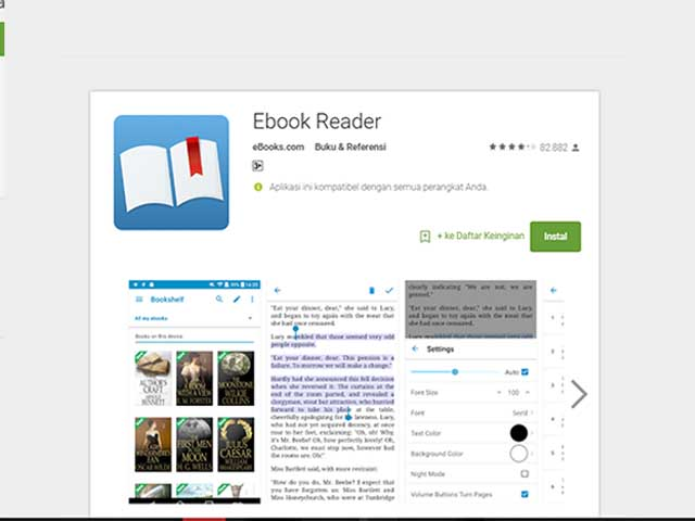 10 Aplikasi Android Untuk Membaca Ebook Paling Nyaman, Terbaik, dan Gratis 2 eBOOKS.COM