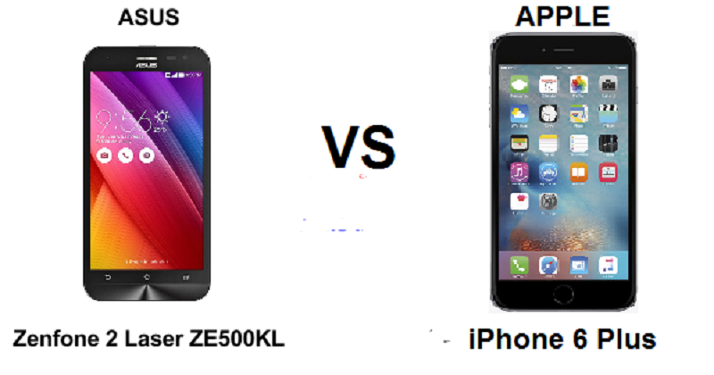 (2) Asus Zenfone r ZE500KL VS Apple iPhone 6 Plus -2