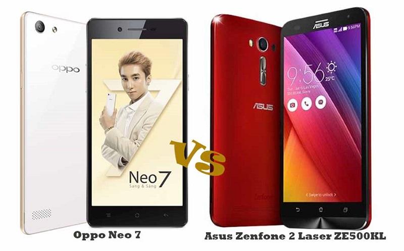 (3) Asus Zenfone 2 Laser ZE500KL VS Oppo Neo 7