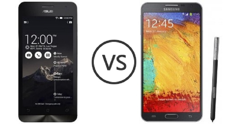 (4) Asus Zenfone 5 VS Samsung Galaxy Note 3