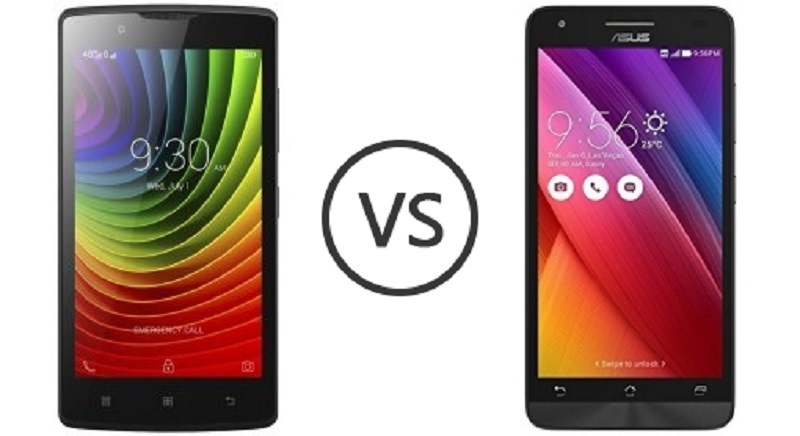 (4) Asus Zenfone Go VS Lenovo A2010