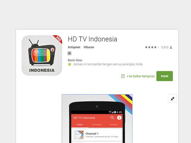 5 Aplikasi Streaming TV Indonesia Untuk Android Paling Bagus dan Gratis