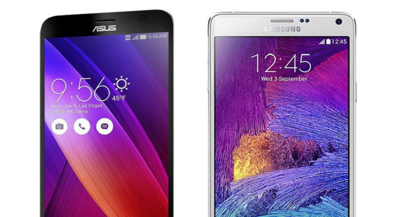 (5) Asus Zenfone 5 VS Samsung Galaxy Note 4