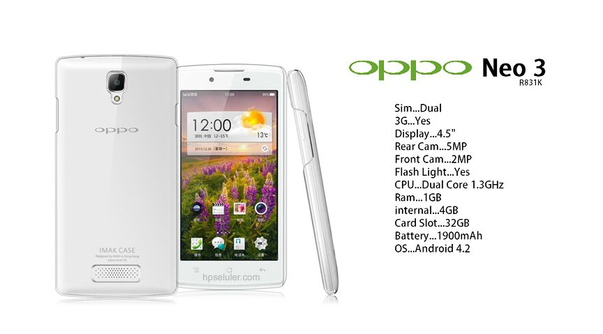 Oppo Neo 3 Specifications
