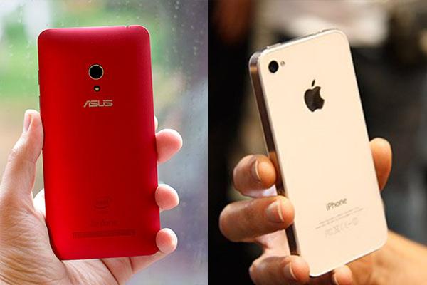 Perbandingan Bagus Mana HP Asus Zenfone 5 VS Apple iPhone 4 1