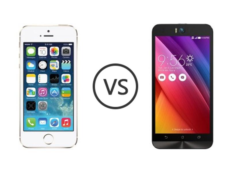Perbandingan Bagus Mana HP Asus Zenfone Selfie VS Apple iPhone 5S Segi Harga, Kamera, dan Spesifikasi di Indonesia 1