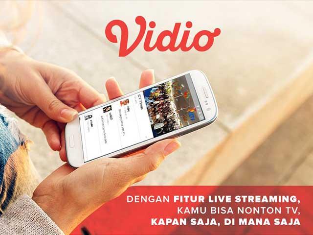 Vidio 5 Aplikasi Streaming TV Indonesia Untuk Android Paling Bagus dan Gratis