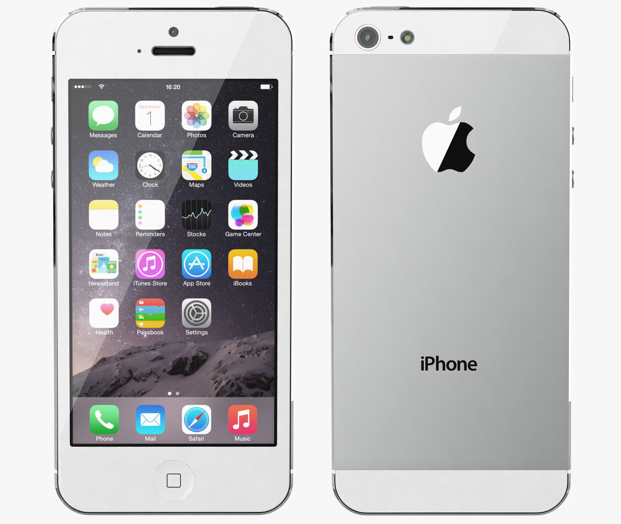 apple-iphone-5-white-silver-3d-model