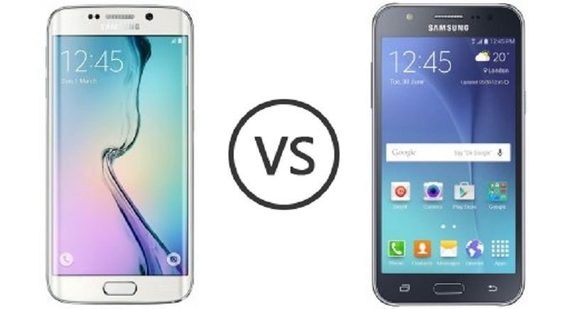 (1) Samsung Galaxy J7 VS Samsung Galaxy S6 Edge