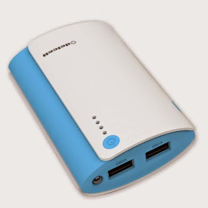Delcell Nitro Power Bank Real Capacity - 6000mAh - Putih Biru.