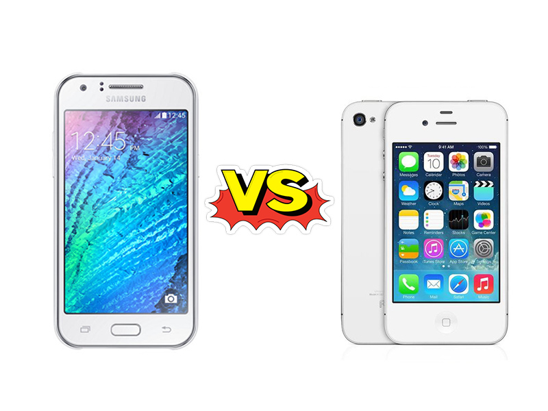 Perbandingan Bagus Mana HP Samsung Galaxy J1 VS Apple iPhone 4S cover