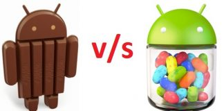Jelly Bean and Kitkat