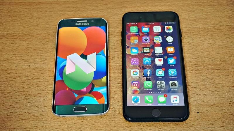 (4) iphone 7 galaxy s6