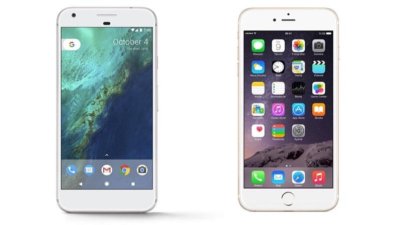 Google-pixel-2-vs.-iPhone-8