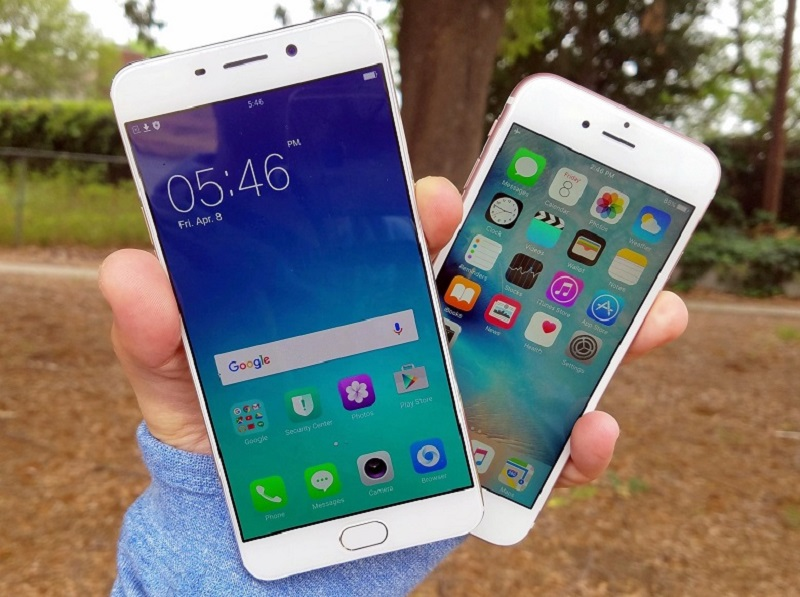 (2) Oppo F1s vs iPhone 6s 2