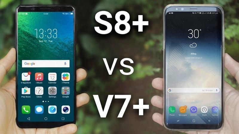 (4) vivo v7 plus vs samsung galaxy s8
