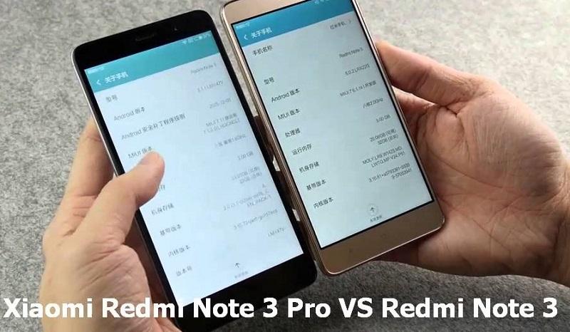 (1) Xiaomi Redmi Note 3 vs redmi note 3 pro