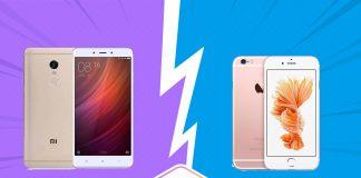 Perbandingan Bagus Mana HP Xiaomi Redmi Note 4 VS Apple iPhone 6S segi Harga, Kamera, dan Spesifikasi di Indonesia