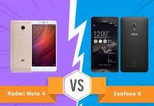 Perbandingan Bagus Mana HP Xiaomi Redmi Note 4 VS Asus Zenfone 6 segi Harga, Kamera, dan Spesifikasi di Indonesia