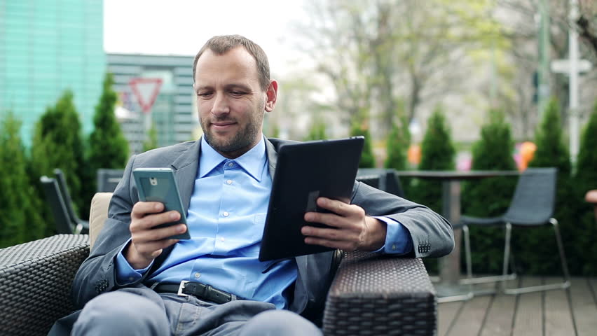 Businessman Smartphone