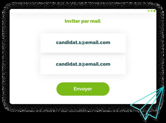 Illustration Invitation de candidats