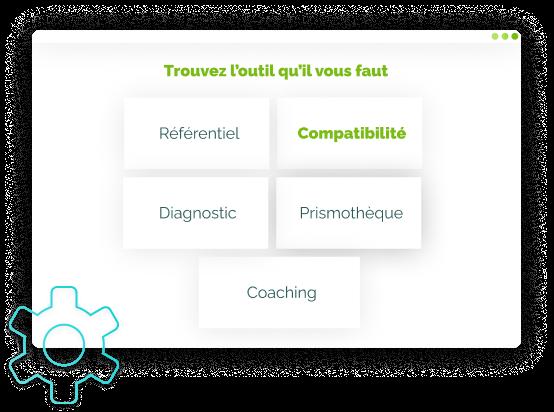 Illustration de l'étape 3 des Tools : choix de l'outil Compatibilité