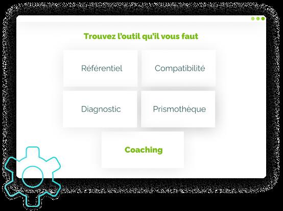 Illustration de l'étape 3 de l'utilisation Tools : Choix de l'outil Coaching