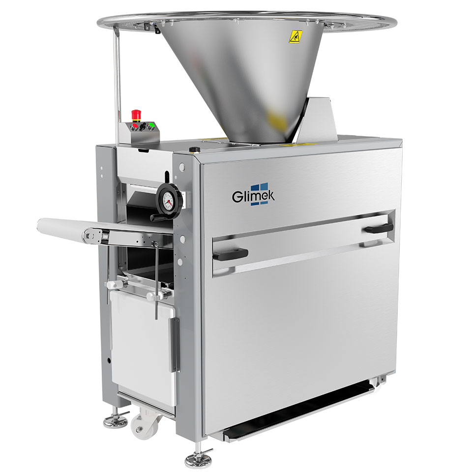 World class dough handling with accurate dough weight and flexible weight range with glimek dough divider sd180