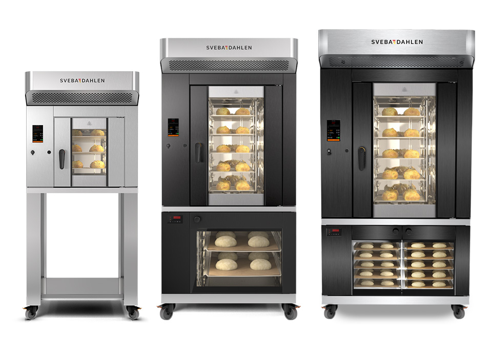 Bakery rack oven S-Series with rotating rack for baking on trays