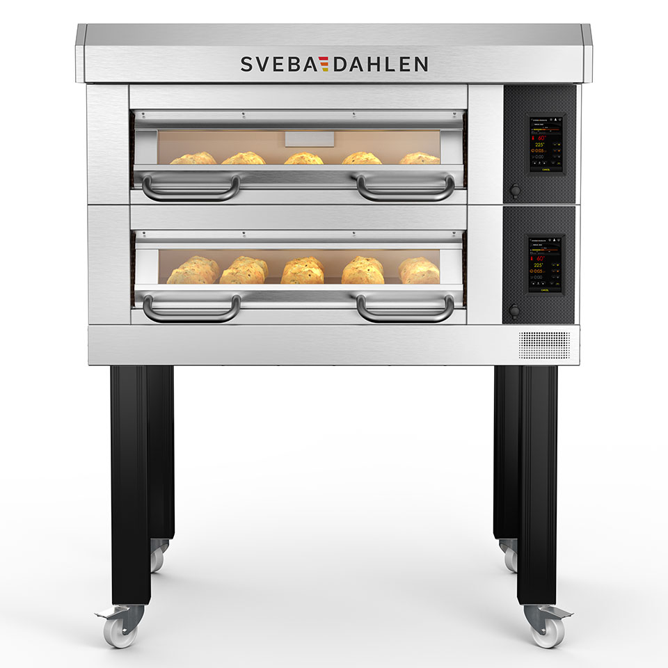 Premium deck oven for bakeries, D-Series D22 - bake amazing bread and pastries at the same time with 2 decks