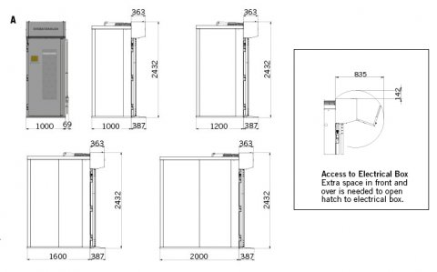 F-Series F500 Drawing with Measurements