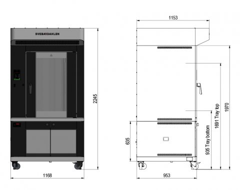 Flexible instore baking oven with large capacity, the S-Series SRP240 with underbuilt proofer
