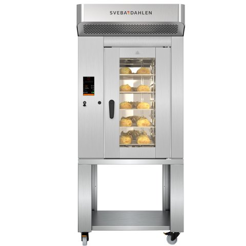 S-Series Combination Oven with smart touch control panel. Energy efficient oven with high capacity, adapted for supermarket.