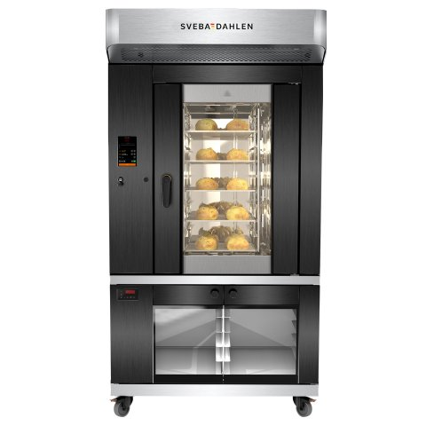 SRP240 is a user-friendly oven with baking capacity. Great baking with steam system, optimized rotation and airflow. Save recipe function in the smart touch panel.
