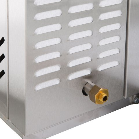 Drain on the front of the C-Series rotating rack oven