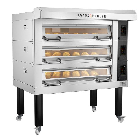 Flexible baking with 3 decks, bake different products with multiple decks - D-Series D32 Deck Oven from Sveba Dahlen