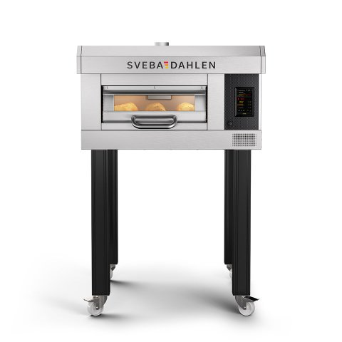 Slim baking oven D-Series D11 with one deck. Bake all from stone baked sour dough bread to confectionary in the store bakery