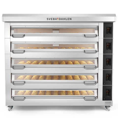 The D-Series is available in five basic sizes, up to five decks for max capacity - robust, reliable and energy-efficient baking