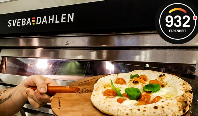 Neapolitan pizza with the electric high temp pizza oven with biscotto di sorrento pizza stones
