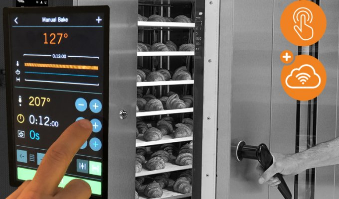 outstanding baking with smart control panel SD touch 2 implementation for rack oven V-Series sveba dahlen