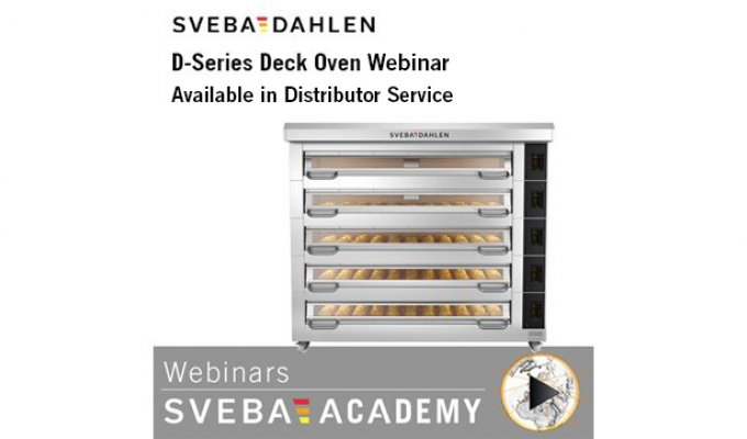 See the Sveba Academy webinar about bakery deck oven D-Series in Distributor Service