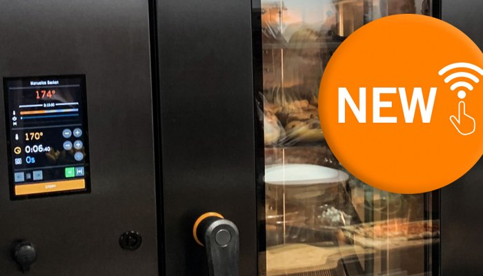 SD Touch 2 smart user-friendly panel for rack ovens Sveba Dahlen